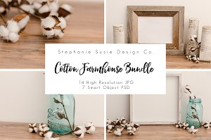 Cotton and Barn Wood Mock Up Bundle