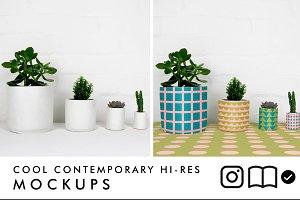Planter / plant pot mockup