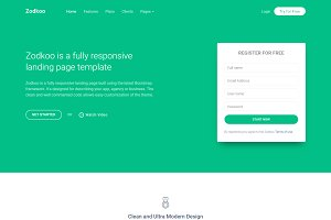 Zodkoo - Multipurpose Landing Page