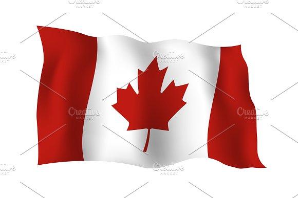 Canada Flag On White Background