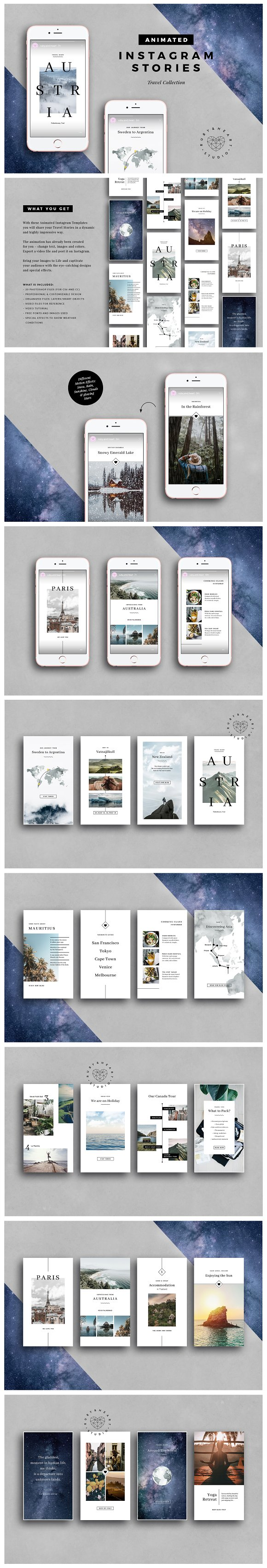 ANIMATED Travel Instagram Stories