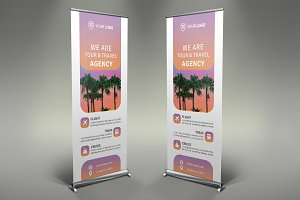 Summer Travel Roll Up Banner #128