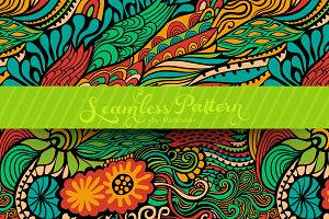 Wave seamless pattern