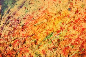 Colorful abstract vintage painting
