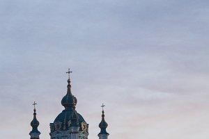 Orthodox church at dusk