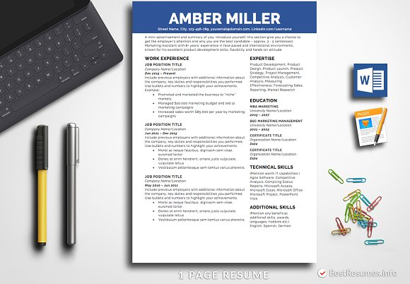 Simple Resume Template Pages Word