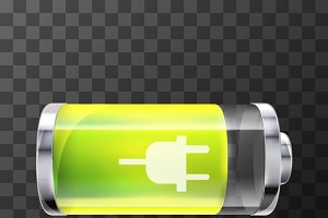80% bright glossy battery icon