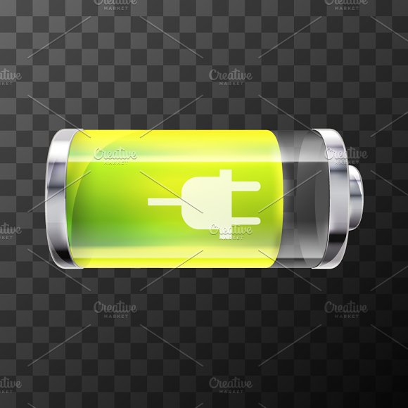 80% Bright Glossy Battery Icon