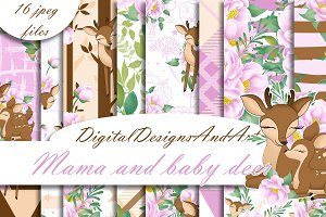 Baby and mama deer patterns