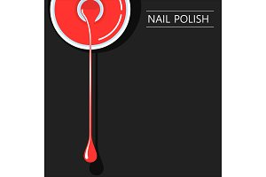 nail polish minimalistic banner template