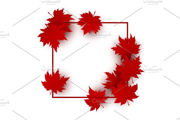 Maple Leaves Background Design