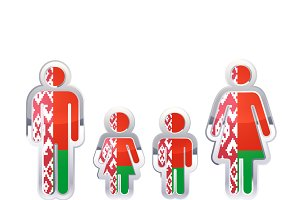 People with Belarus flag
