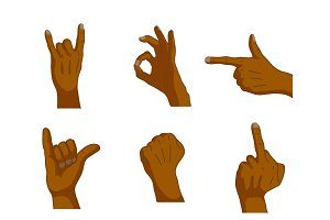 Common cartoon black hand signs