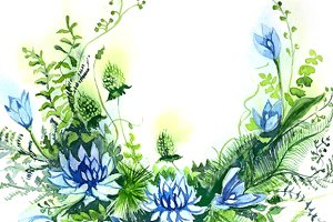 Watercolor Clipart - Flowers