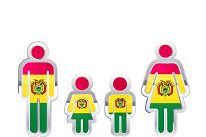 People with Bolivia flag