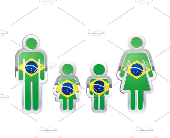 People With Brazil Flag