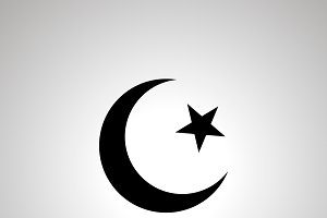 Islam religion simple black icon