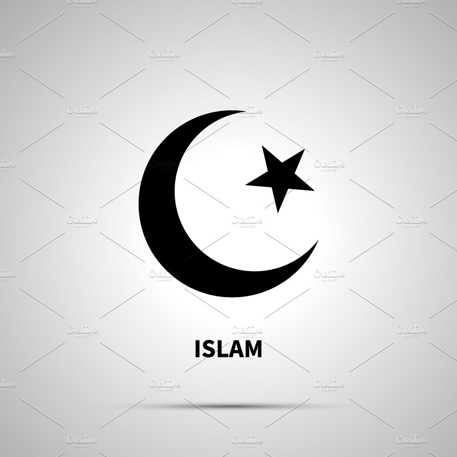 islam religion simple black icon creative daddy creative daddy