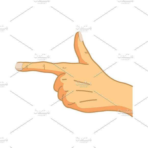 Cartoon Hand In Pointing Gesture