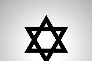 Judaism religion simple black icon