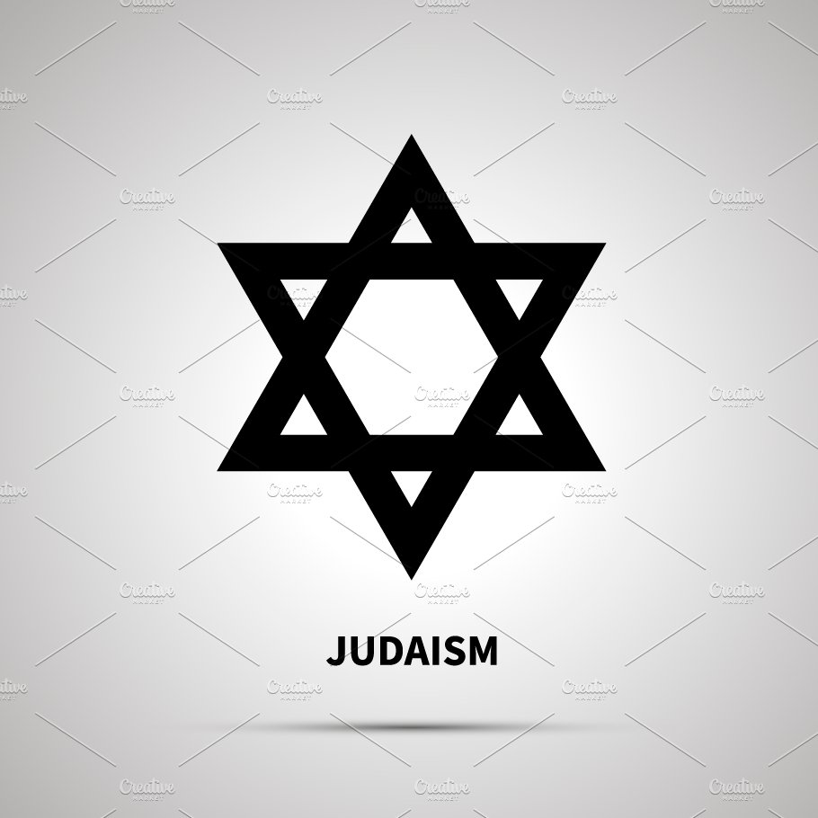Judaism Religion Simple Black Icon Graphic Objects Creative Market