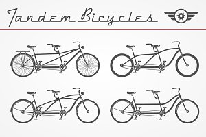 Tandem bicycle set
