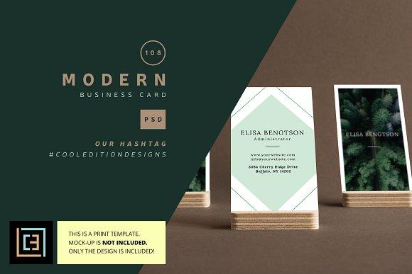 Modern Business Card 108