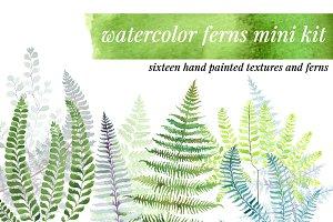 Watercolor Ferns Mini Kit