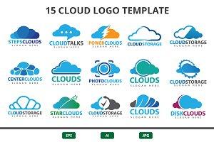 cloud logo set
