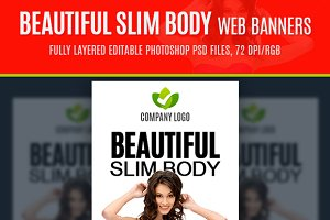 Beautiful Slim Body Web Banners