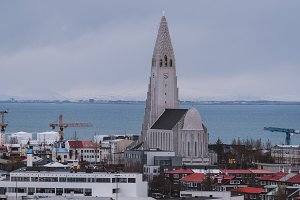 Panorama over Reykjavik in Iceland