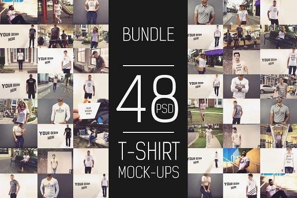 Download 48 PSD T-shirt Mock-up Bundle