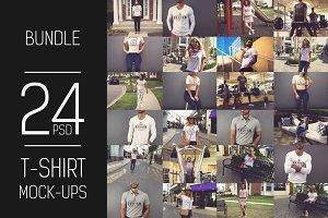 24 PSD T-shirt Mock-up Bundle#2