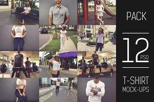 12 PSD T-shirt Mock-up Pack#3