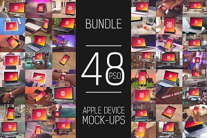 48 PSD Apple Device Mock-up