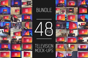 48 PSD Television Display Mock-up
