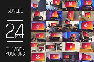 24 PSD TV Display Mock-up