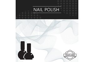 nail polish banner template abstract