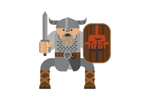 viking with sword character