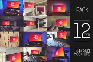 12 PSD TV Display Mock-up#2
