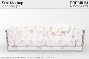 Sofa & Pillows Mockup