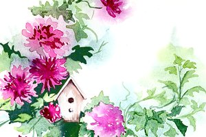 Watercolor Clipart -Flowers