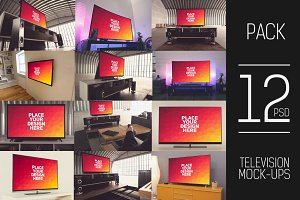 12 PSD TV Display Mock-up#1