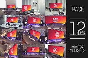 12 PSD Curved Monitor Mock-up#1