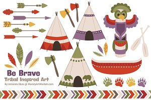 Autumn Tribal Clipart & Vectors