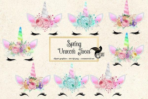 Spring Unicorn Faces