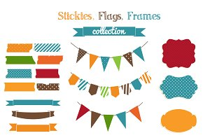 Stickies,flags,frames collection