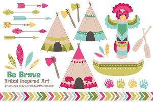 Bohemian Tribal Clipart & Vectors