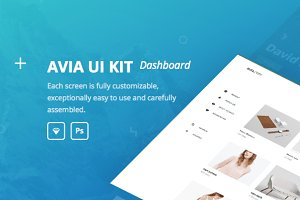 Avia UI kit: Dashboard