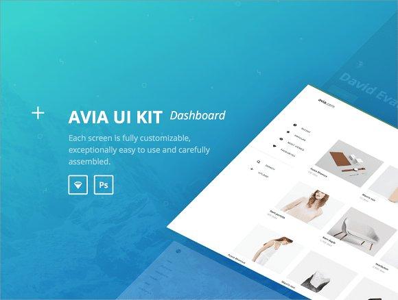 Avia UI kit: Dashboard